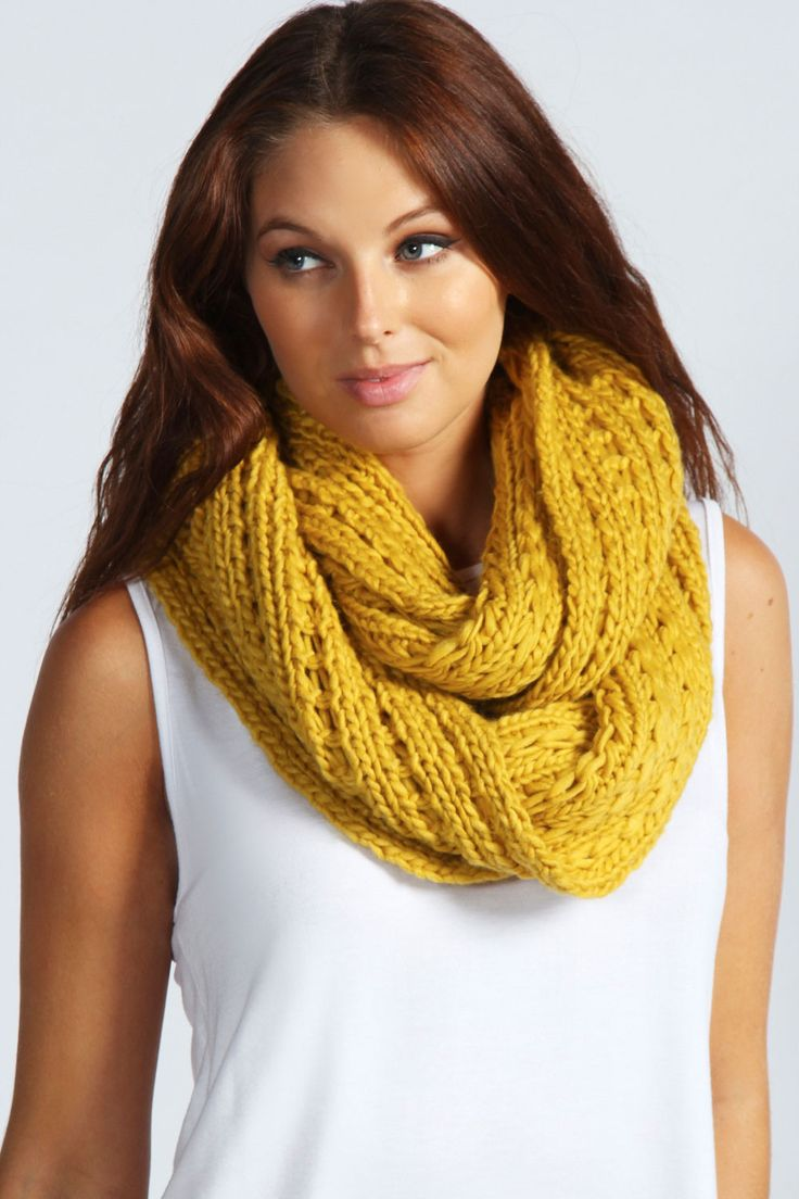 Mustard infinity scarf. Perfect for fall