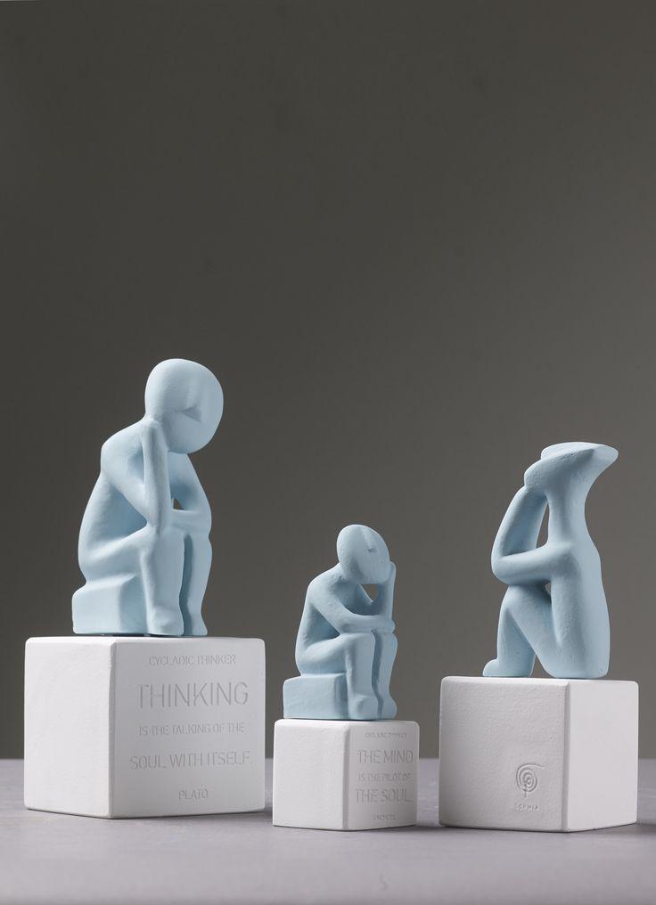 Cycladic Thinkers. Colors: Vintage blue.