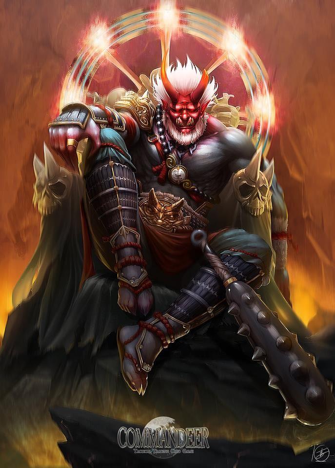 Oni King By Noaharkstudio Idk What In 2019 Fantasy Art