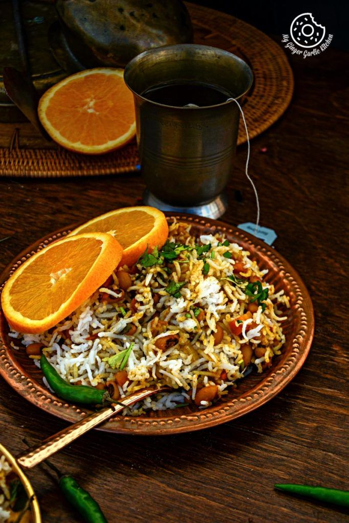 Black Eyed Bean Carrot Biryani #Dinner #Rice