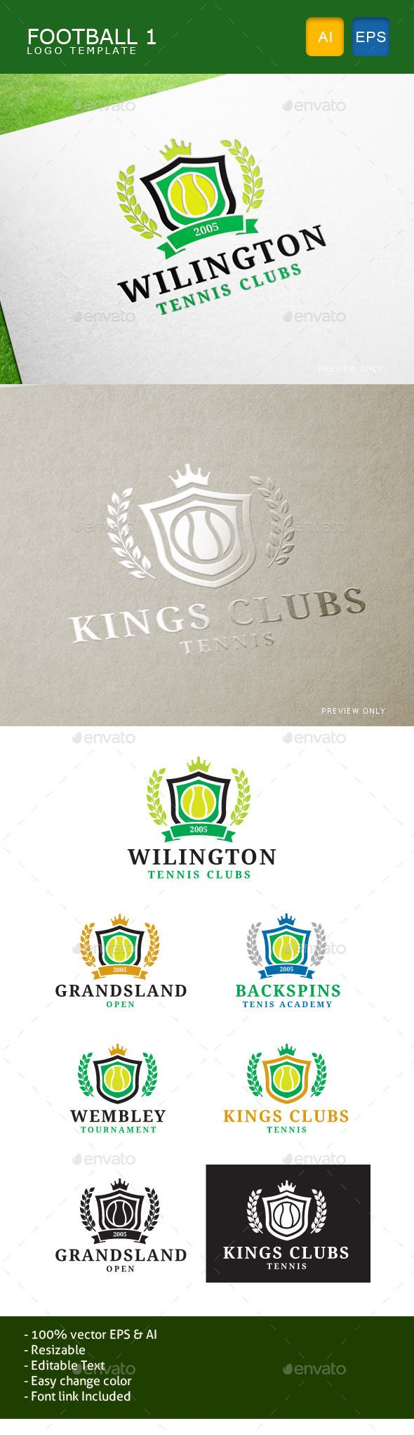 Tennis Clubs — Vector EPS #exclusive #academy • Available here → https://graphicriver.net/item/tennis-clubs/11071045?ref=pxcr