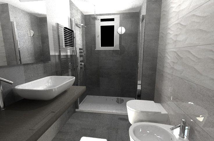 """Per un nostro affezionato cliente abbiamo studiato e realizzato la ristrutturazione del classico """"bagno piccolo"""", che smette di essere semplice servizio e diventa invece angolo prezioso di relax..."""