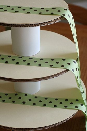 diy cupcake tower  #annieseats awesome idea, I need a homemade cupcake tower for the Fourth of July, and this will work perfectly as we'll be camping!