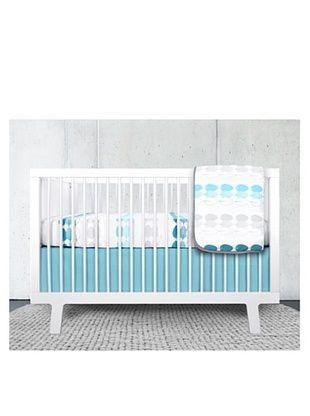 50% OFF Olli & Lime Kids 3-Piece Forest Crib Bedding Set, Blue