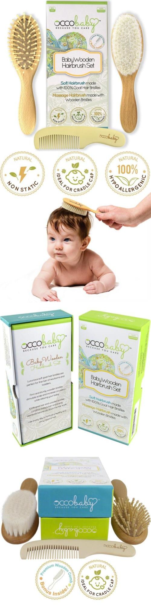 Health and Grooming 45452: Occobaby 3-Piece Wooden Baby Hair Brush And Comb Set For Newborns Toddlers  ... -> BUY IT NOW ONLY: $38.04 on eBay!