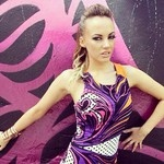 Samantha Jade rocking the Fairground scuba dress in floral, online at www.unwrittenclothing.com.au now!