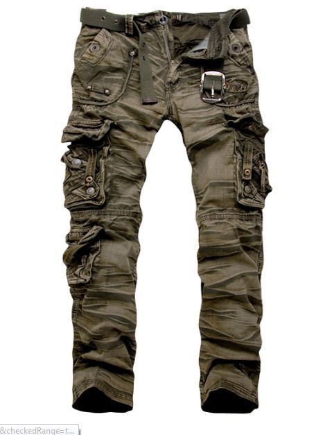 2012 New Military Vintage Camo Style Multi pockets Cargo Pants