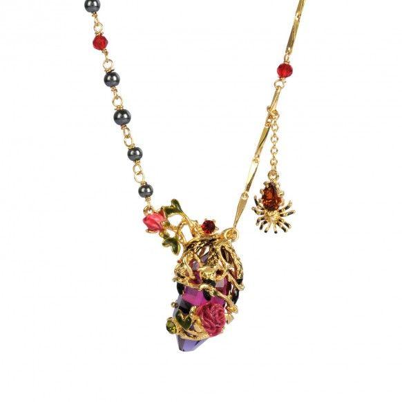 Les Nereides,  Paris Collier pierre taillée bicolore, griffes de dragon, ronces et araignée