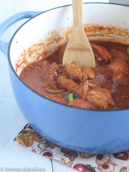 Paleo African Chicken in Spicy Red Sauce