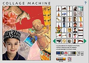 Collage Machine and Collage Machine II are fun for children of all ages. Create virtual collages