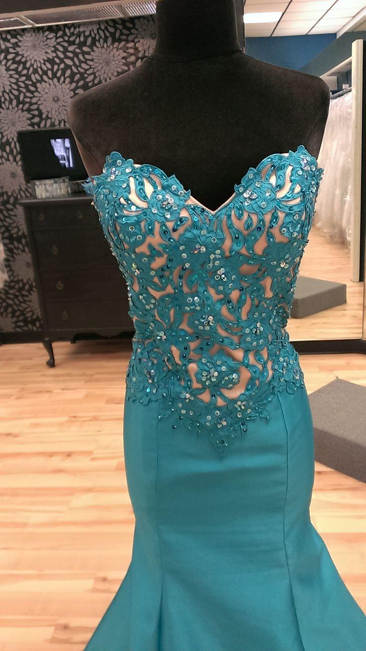 Deep Turquoise Mermaid Prom Dress