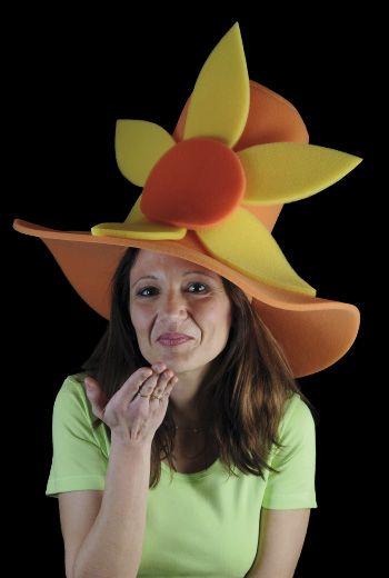 Chistera con flor | Categoría Estandar | Nuestra colección de gorros de gomaespuma originales y divertidos