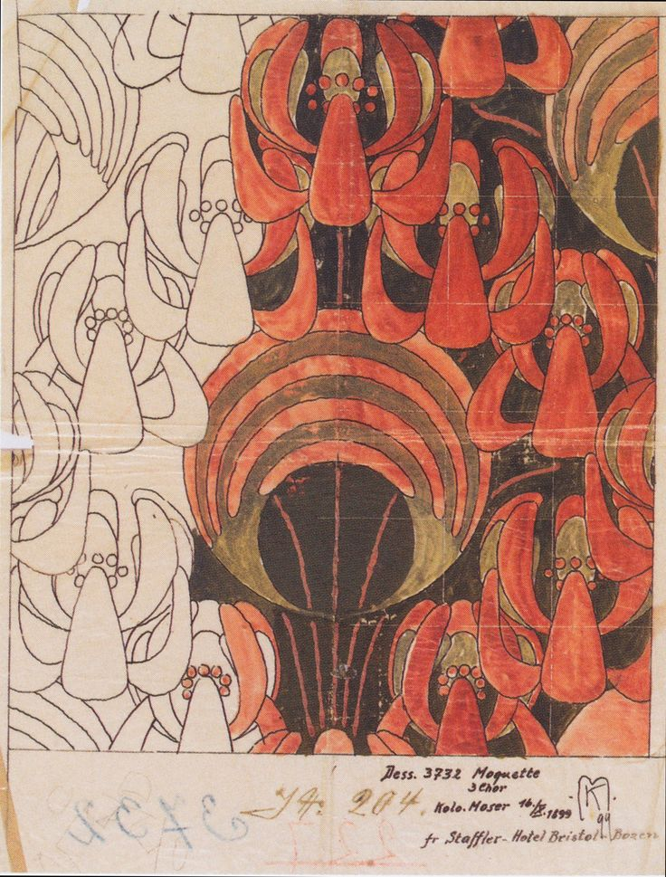 Koloman Moser - Lindeblüten - 1898 www.lab333.com https://www.facebook.com/pages/LAB-STYLE/585086788169863 http://www.labs333style.com www.lablikes.tumblr.com www.pinterest.com/labstyle