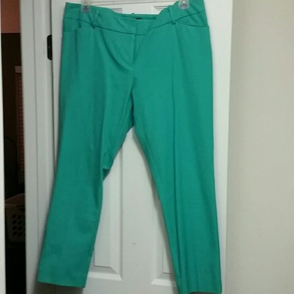 Teal pants Cute teal pants perfect for spring and summer! I'm 5'4 and they hit right at my ankles.  Only worn when I tried them on, so basically new! Mossimo Supply Co Pants