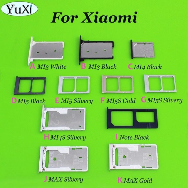 Yuxi Sim Card Holder Tray Card Slot For Xiaomi Mi3 Mi4 Mi5 Mi4s