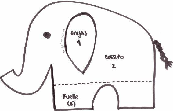 moldes-de-elefantes | Manualidades