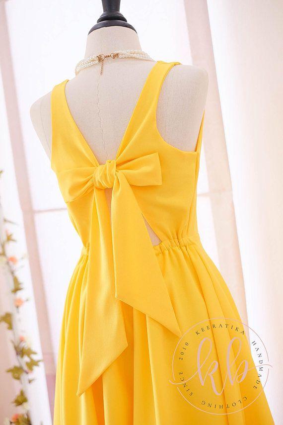 Yellow dress golden yellow dress yellow party dress yellow