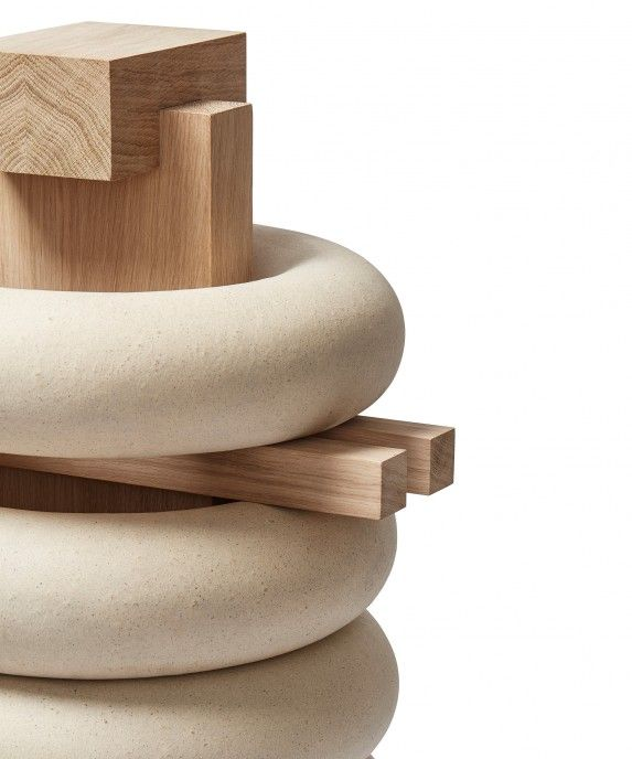 Maria Bruun & Anne Dorthe Vester. Heavy Stack explores the potentials of ceramic elements as structural components in furniture