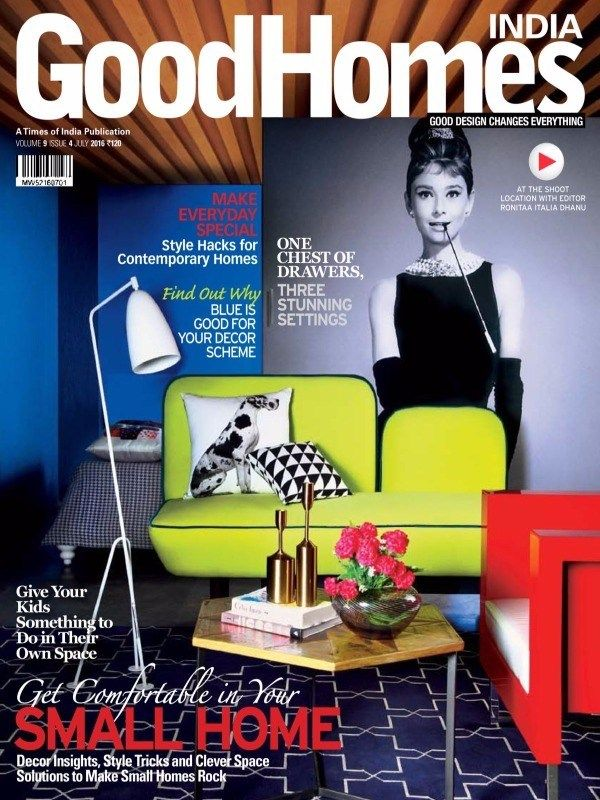 Good Homes July 2016 Issue- Small Homes Rock  #GoodHomes #SmallHomeDesign #KidsSpace #SmallSpaceSolutions #ebuildin