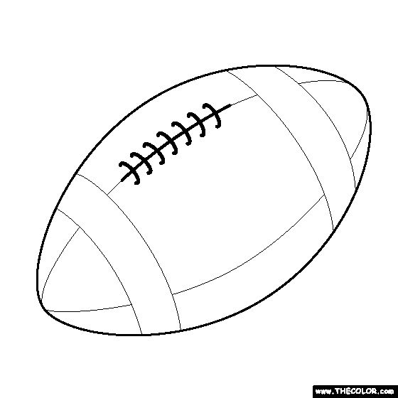 25 best ideas about online coloring pages on pinterest for Football cutout template