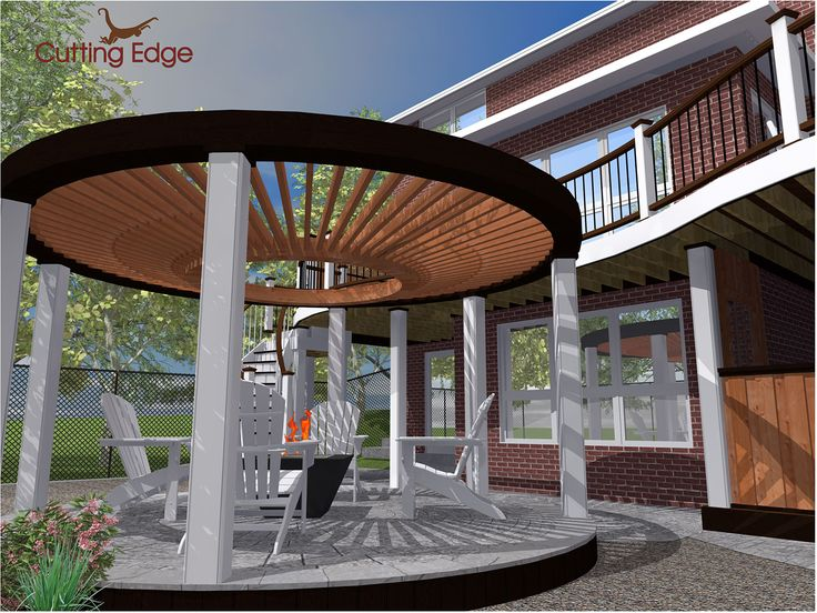 The Design Phase 3d Rendering Of The Quot Circular Pergola