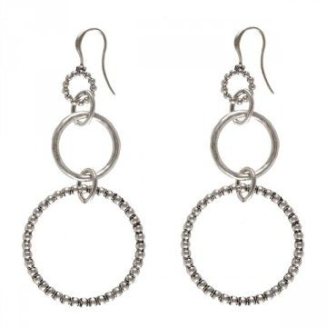 Hultquist-Copenhagen Whoop Whoop Hoop Drop Earrings - Silver  These multi hoop earrings from Hultquist-Copenhagen's Whoop Whoop collection are just perfect for sleek Summer styling.  Brilliant for both day and night these stylish hoops will add both a fun and elegant look.