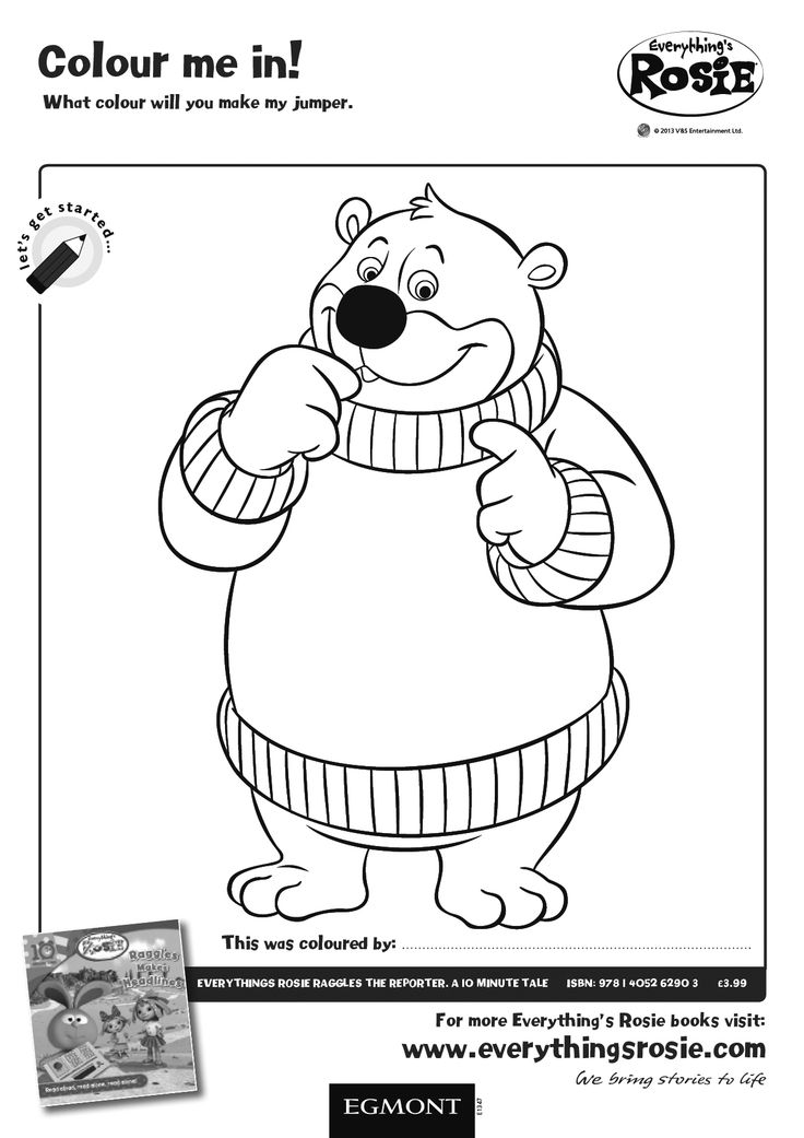 everythings rosie coloring book pages | Everything's Rosie Colouring Activity Sheet for children ...