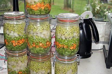 La meilleure recette de Comment faire des stérilisations (partie 1 : les légumes)! L'essayer, c'est l'adopter! 5.0/5 (9 votes), 41 Commentaires. Ingrédients: Des pots à stériliser Un stérilisateur ou une cocotte minute des légumes de l'huile de coude hihihi