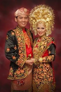 Traditional clothing (wedding dress) from West Sumatra