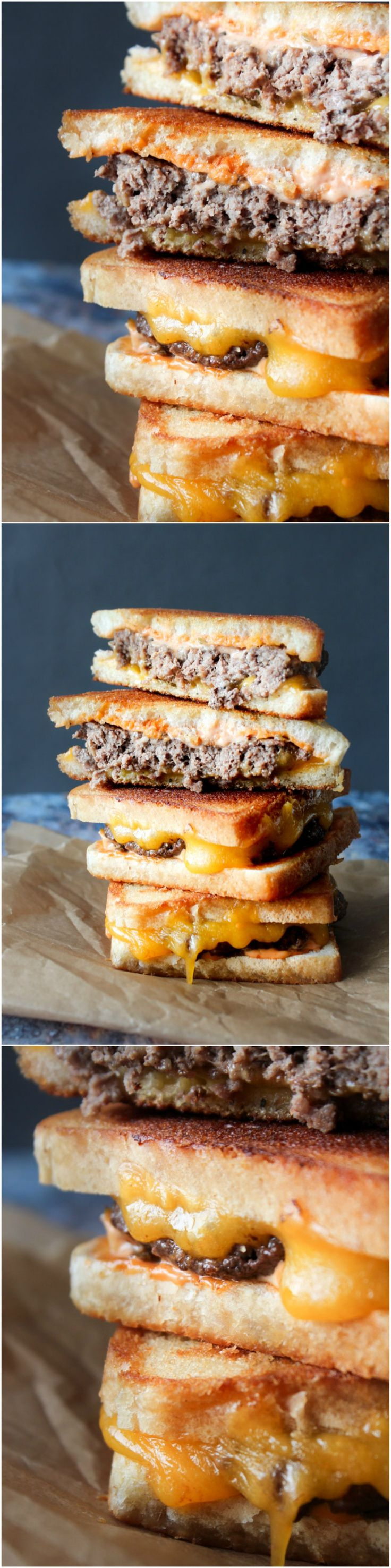 Patty Melts - Grilled Cheese - Burger - Homemade Sauce - Cheese - Beef - Dinner recipe - Lunch Recipe