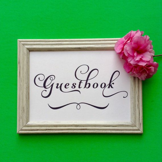 Guestbook Card Wedding Signage INSTANT by OverTheMoonBridal