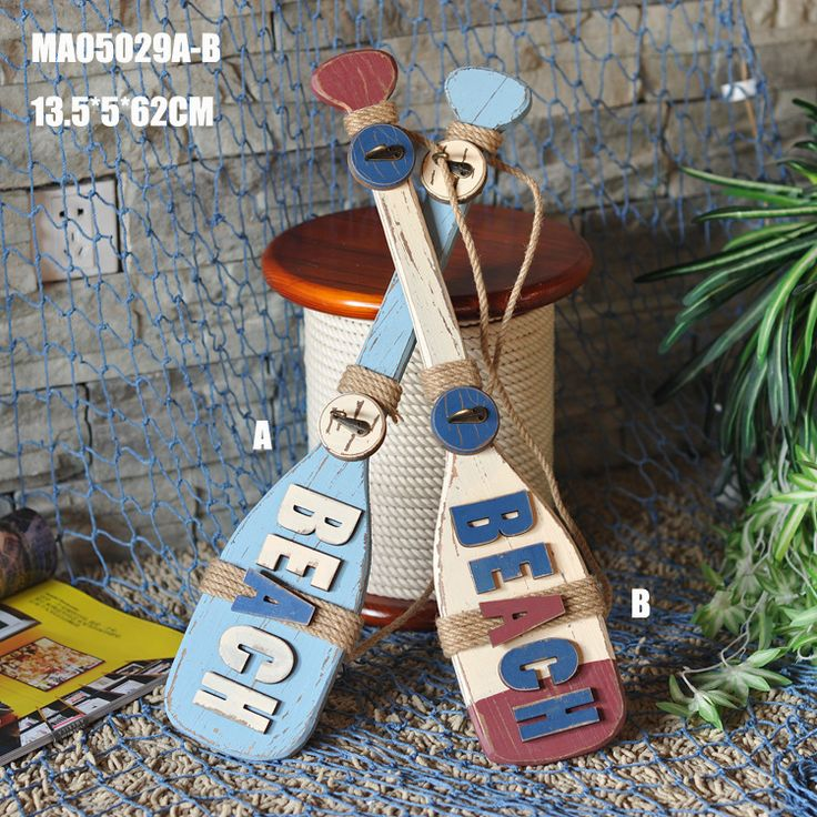 Mediterranean Style Paddle Hook Home Furnishing Ornaments Studio Props Sample Room Home Decoration Accessories