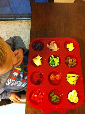 Muffin tin meals/snacks- great for picky toddlers!