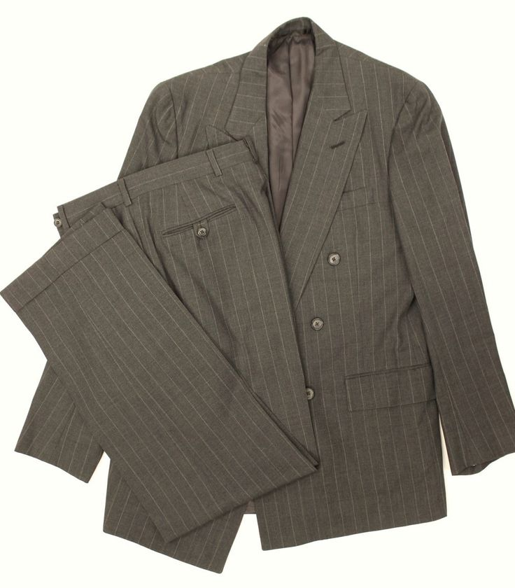 The Andover Shop Med-Grey Trop Weight Chalk Stripe (3x1) DB Suit