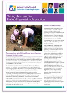 This is e-Newsletter No.67 and it is a supporting document for the latest Talking about practice video, titled 'Embedding sustainable practices'. http://wp.me/P2wNWe-13K