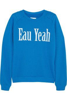 Zoe Karssen Sweat en jersey de coton mélangé Eau Yeah | NET-A-PORTER