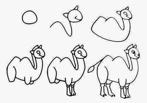 easy drawings zoo animal animals draw