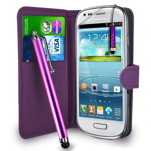 Gbos Dark Purple Leather Wallet Flip Case Cover Pouch For Samsung Galaxy S3 Mini I8190 + Free Screen Protector & Touch Stylus Pen - Dark Purple Gbos http://www.amazon.co.uk/dp/B00DUBW7D4/ref=cm_sw_r_pi_dp_JXgJub04C5ZKQ