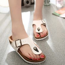 Flip Flops 2016 Summer Soft Foam Cork Sandals Slippers Men Women Lovers Beach Shoes Flats Slip On Sandalias Zapatos Mujer Hombre(China (Mainland))