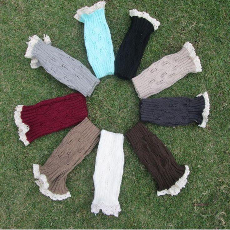 Wool silk stockings Women's Stockings Leg Warmers Lace Boots Cuff For Winter