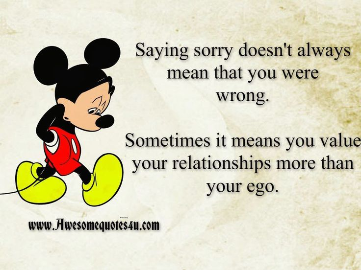 Saying Sorry Doesnt Always Mean You Are Wrong