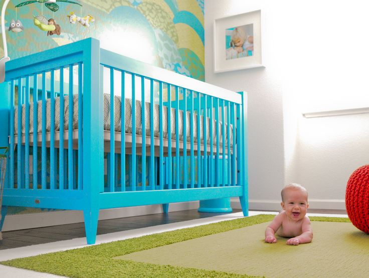 Modern Blue and Green Nursery