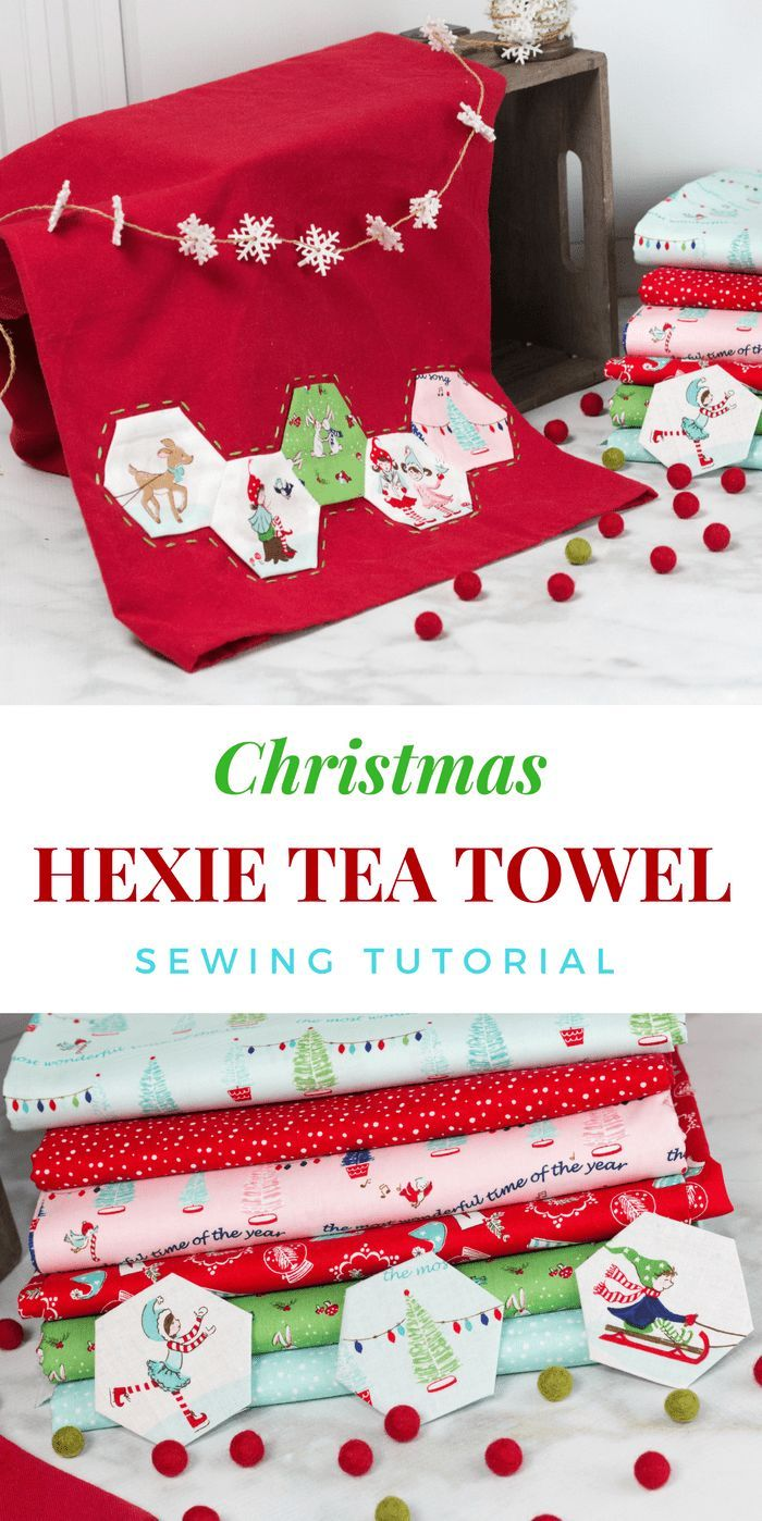 How to Sew a Hexie Handtowel for Christmas Sewing Tutorial