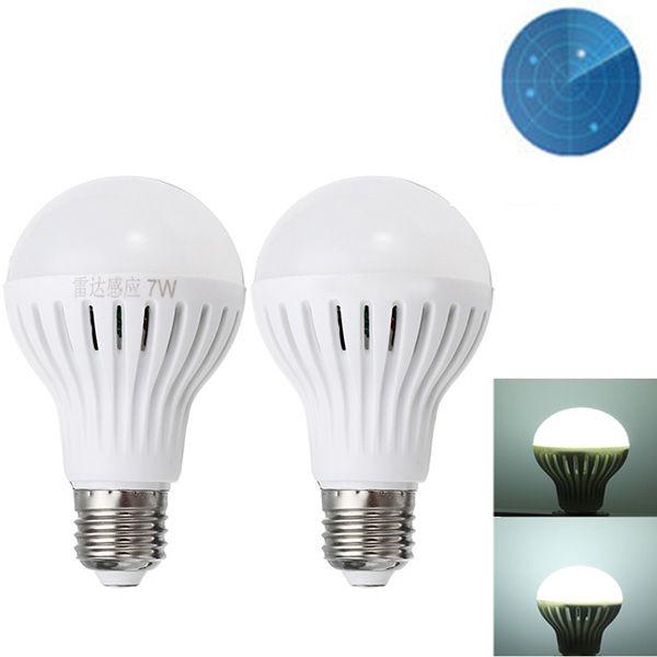 E27 7w 9w Smd2835 Pure White Radar Sensor Light Control Led Light Bulb Ac220v Led Light Bulbs From Lights Lighting On Banggood Com Light Bulb Led Light Bulb Bulb