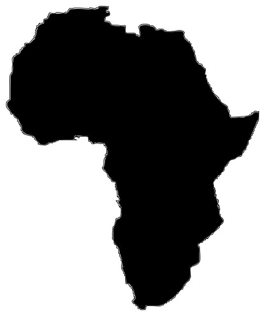 Images Of Map Of Africa Black And White