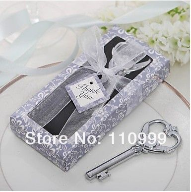 Key to My Heart Victorian Bottle Opener 45PCS/LOT wedding favors guest gift for men Free shipping $76.30