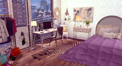 The Sims Bedroom Speedbuild Loft Apartment San