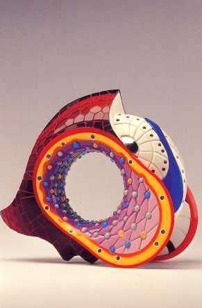 """Chang 1"" 2004 carved and polished acrylic resin bracelet."