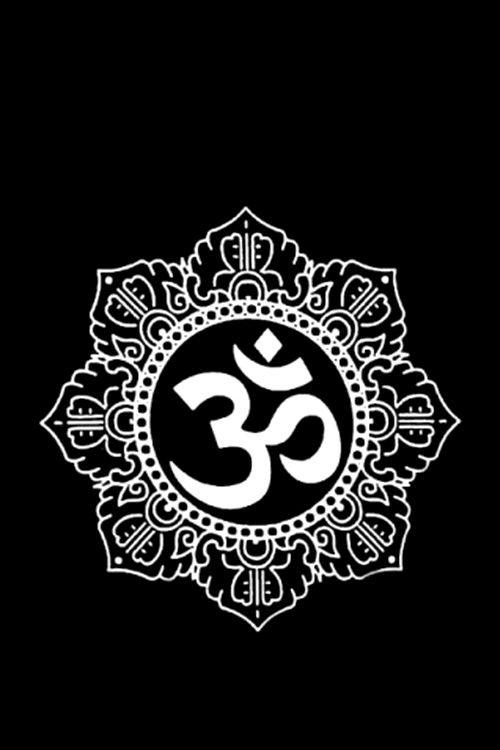 namaste, om symbol, wallpaper