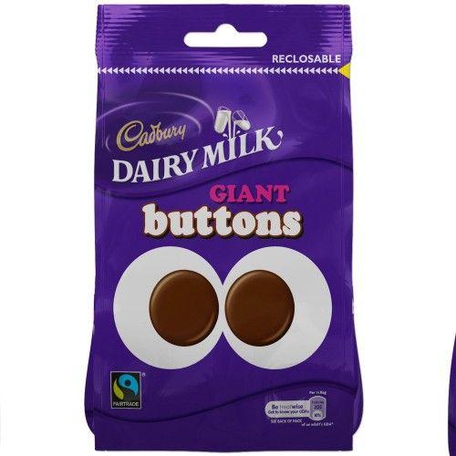 Cadbury Dairy Milk csokoládé cseppek - gomb csokoládé